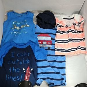 Mixed brands 24m, 2T shirts and romper lot